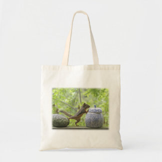 Squirrel and Cookie Jar Canvas Bags
