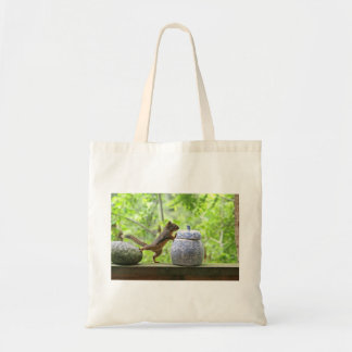 Squirrel and Cookie Jar Tote Bags