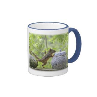 Squirrel and Cookie Jar Ringer Coffee Mug