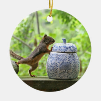 Squirrel and Cookie Jar Ornament