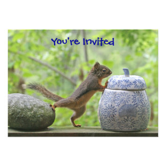 Squirrel and Cookie Jar Personalized Invites