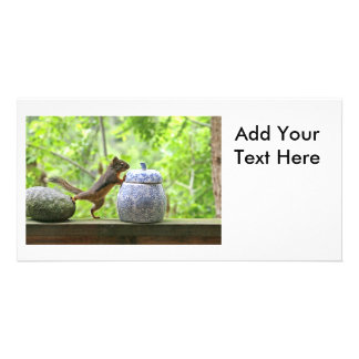 Squirrel and Cookie Jar Photo Card Template
