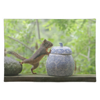 Squirrel and Cookie Jar Placemat