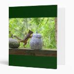 Squirrel and Cookie Jar Vinyl Binder