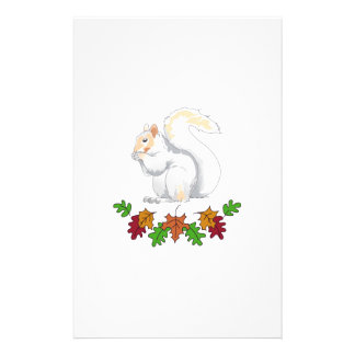SQUIRREL AND FALL LEAVES STATIONERY DESIGN