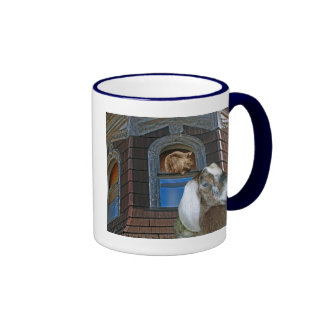 Squirrel and Goat Friends Mugs