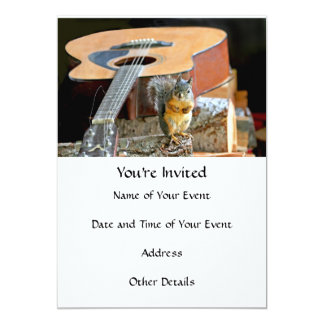 Squirrel and Guitar Card