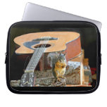 Squirrel and Guitar Laptop Sleeve