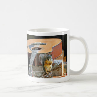 Squirrel and Guitar Coffee Mugs