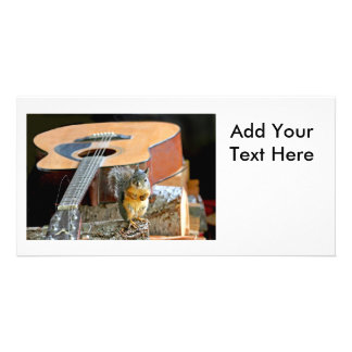 Squirrel and Guitar Photo Cards