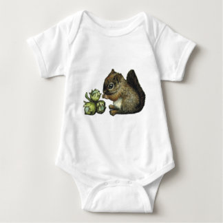Squirrel and hazelnuts infant creeper