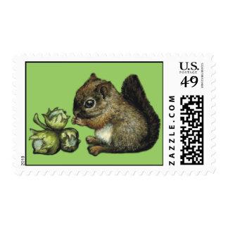 squirrel_and_hazelnuts postage