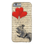 Squirrel and heart balloons barely there iPhone 6 case