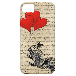 Squirrel and heart balloons iPhone SE/5/5s case