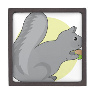 Squirrel and Nut Jewelry Box