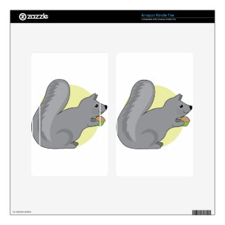 Squirrel and Nut Skin For Kindle Fire