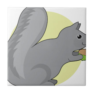Squirrel and Nut Tile