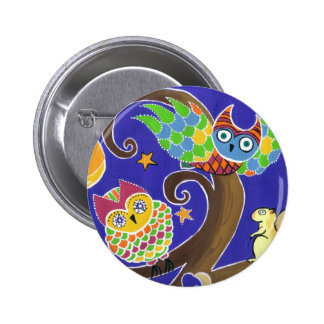 squirrel and owls pin