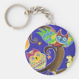squirrel and owls keychain
