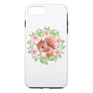 Squirrel and pink flowers iPhone 8 plus/7 plus case