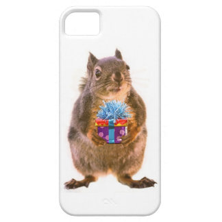 Squirrel and Present iPhone 5 Covers
