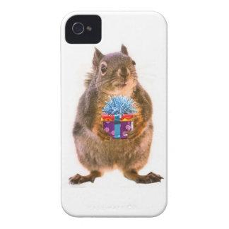 Squirrel and Present Case-Mate iPhone 4 Case