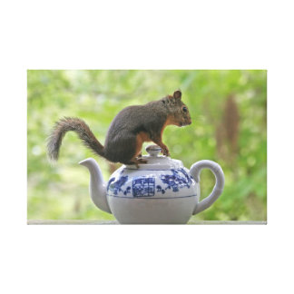 Squirrel and Teapot Gallery Wrap Canvas