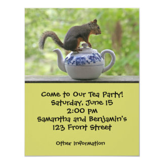 Squirrel and Teapot Card