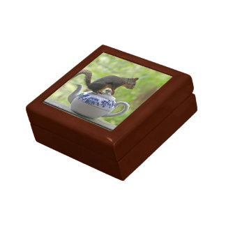 Squirrel and Teapot Trinket Boxes