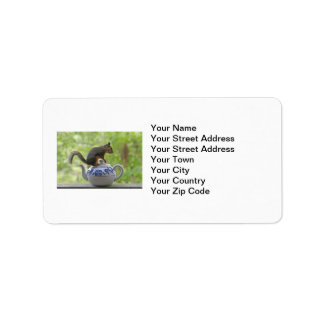 Squirrel and Teapot Personalized Address Labels