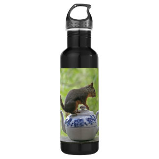 Squirrel and Teapot Stainless Steel Water Bottle