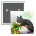 Squirrel and Wrapped Present Button