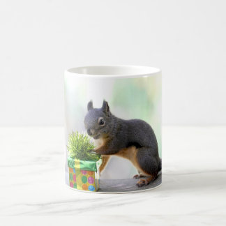 Squirrel and Wrapped Present Coffee Mug