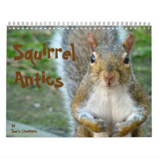 Squirrel Antics Wall Calendars