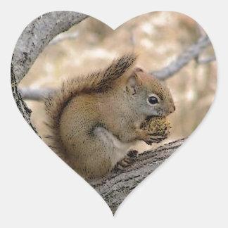 Squirrel Art Heart Sticker