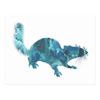 Squirrel art postcard