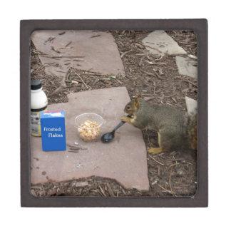 Squirrel at Breakfast Premium Jewelry Box