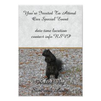Squirrel Attitude 3.5x5 Paper Invitation Card