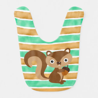 Squirrel Baby Bib
