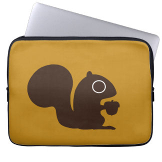 Squirrel - Background Color is Customizable Computer Sleeve