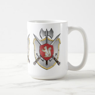 Squirrel Battle Crest Coffee Mug