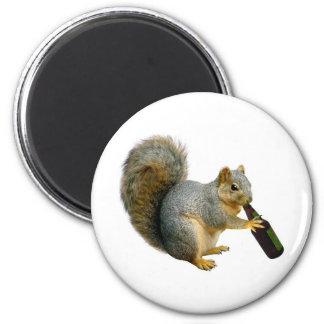 Squirrel Beer 2 Inch Round Magnet