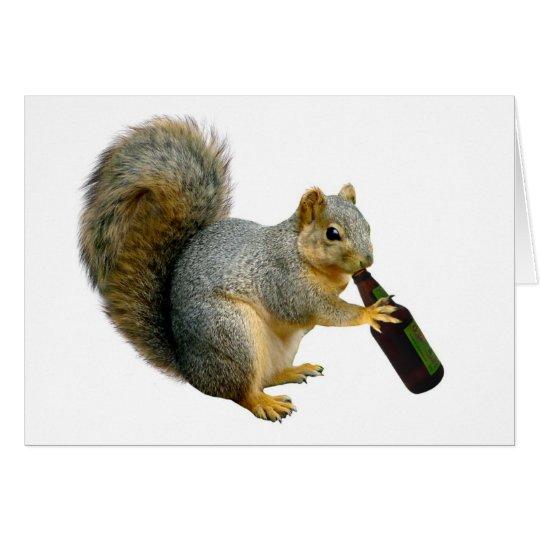 Squirrel Beer Card