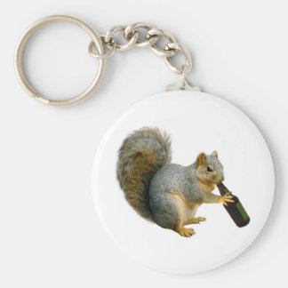 Squirrel Beer Keychain