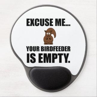 Squirrel Birdfeeder Empty Gel Mouse Pad