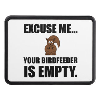 Squirrel Birdfeeder Empty Hitch Cover