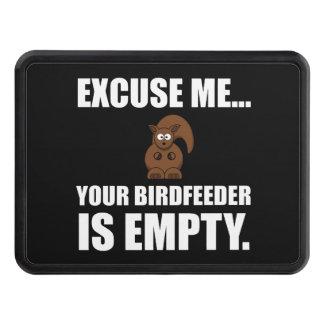 Squirrel Birdfeeder Empty Trailer Hitch Cover