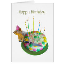 Squirrel Birthday Cake Card