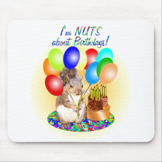 Squirrel Birthday Mouse Pad