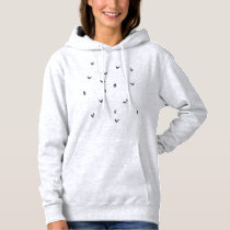 Squirrel black and white pattern hoodie